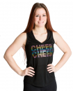 *GLAMOUR COLLECTION* CHEER V-NECK COLORED
